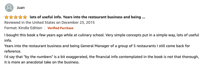 Restaurant Success By the Numbers by Roger Fields Top Review
